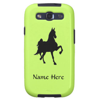 Saddlebred Horse Silhouette Samsung Galaxy S3 Cover