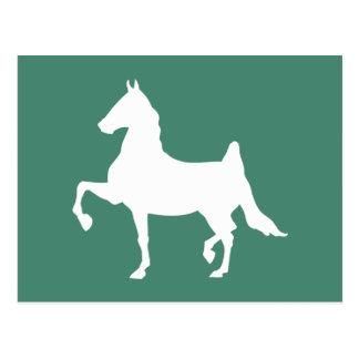 Saddlebred horse silhouette postcard