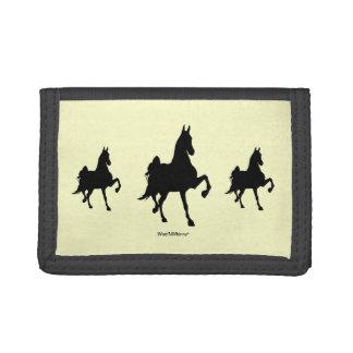 Saddlebred Horse -- Triple Image Trifold Wallets