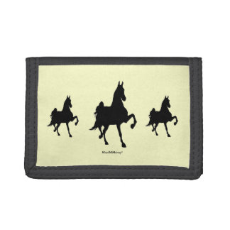 Saddlebred Horse -- Triple Image Trifold Wallet