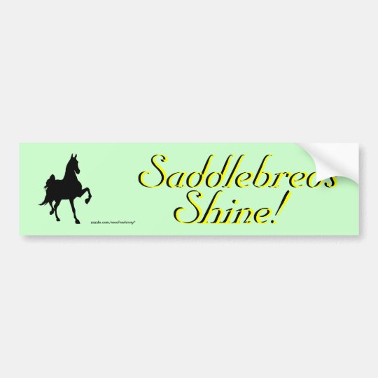 Saddlebreds Bumper Sticker