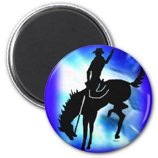 Saddlebronc 102 6 cm round magnet