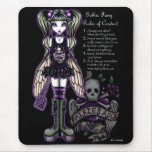 """""""Sadie"""" Gothic Fairy Rules of Conduct Mousepad"""