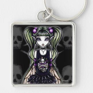 """""""Sadie"""" Gothic Skull Fly Fairy Keychain"""