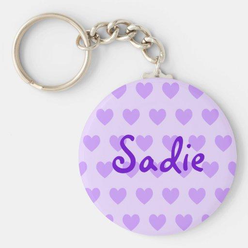 Sadie in Purple Keychain