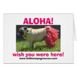 Sadie May hula girl, ALOHA!, wish you were here... Greeting Cards