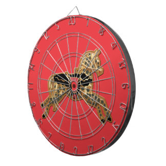 Sadie Spotted Horse Dartboard With Darts