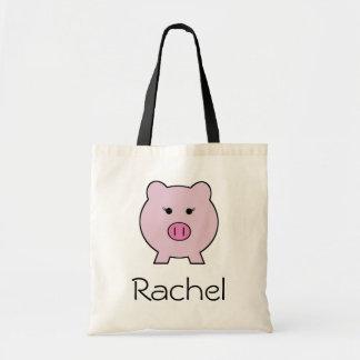 Sadie the Pink Pig Tote Bag