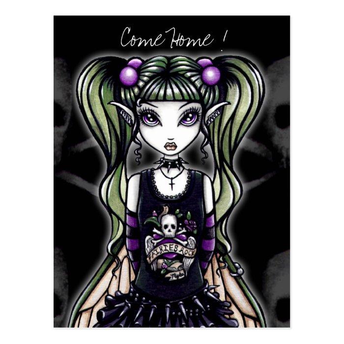 "Sadie's  ""Come Home ! "" Gothic Fairy Postcard"