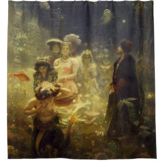 Sadko in the Underwater Kingdom Ilya Repin nautica Shower Curtain