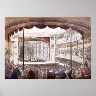 Sadler s Wells by Rowlandson Pugin Posters