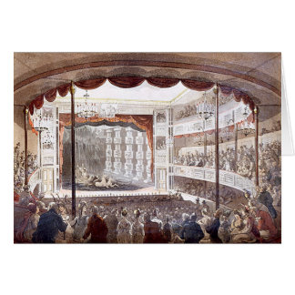 Sadler's Wells by Rowlandson & Pugin Greeting Card