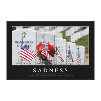 Sadness: Inspirational Quote Canvas Print