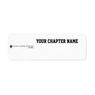 SAE Brand Black Return Address Label