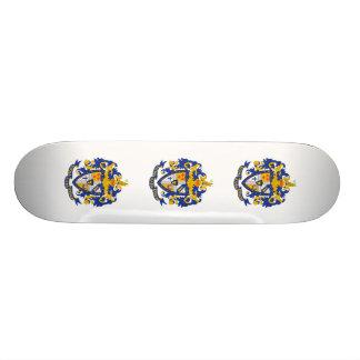 SAE Coat of Arms Color 18.1 Cm Old School Skateboard Deck
