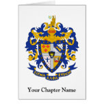 SAE Coat of Arms Colour Note Card