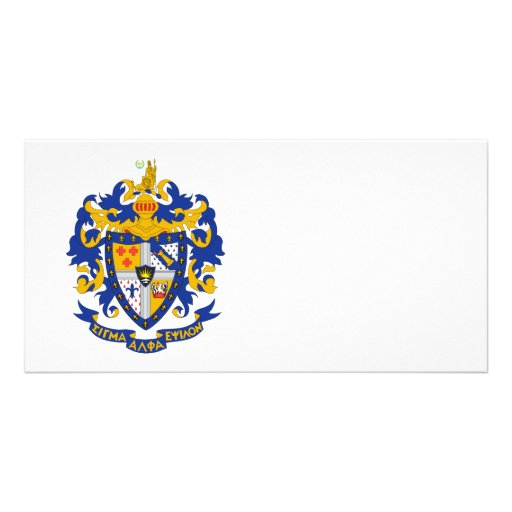 SAE Coat of Arms Colour Personalized Photo Card