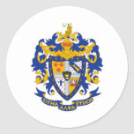 SAE Coat of Arms Colour Round Sticker