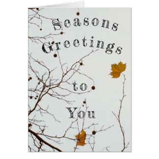 Saesons Greetings Card