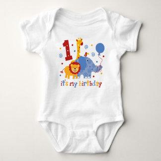 Safari 1st Birthday Baby Bodysuit