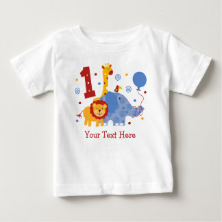 Safari 1st Birthday Custom Baby T-Shirt