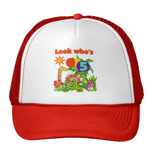 Safari 5th Birthday Tshirts and Gifts Hats