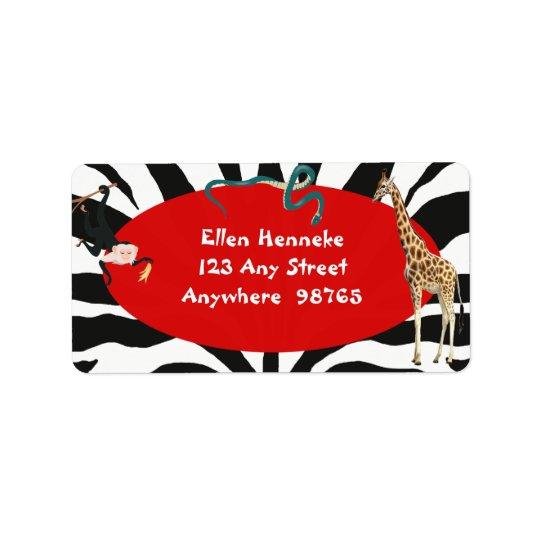 Safari Address Label
