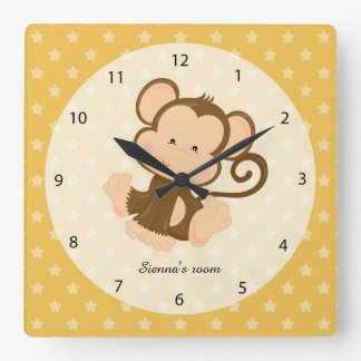 Safari Animal, choose your own background color Wall Clock