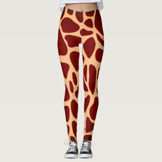 Safari Animal Giraffe Print Leggings