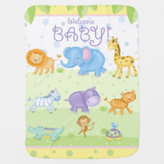 Safari Animal New Baby Blanket