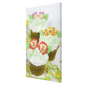 Safari animal party cupcakes. canvas prints