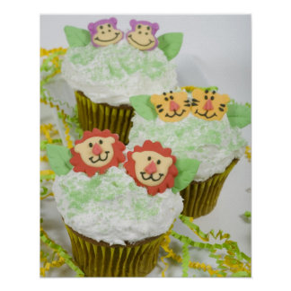 Safari animal party cupcakes. poster