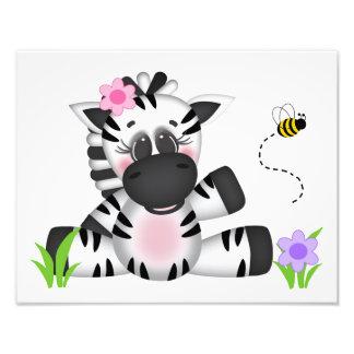 Safari Animal Zebra Baby Nursery Wall Art Print Photo Print