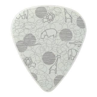 safari animals 1 acetal guitar pick