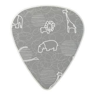 safari animals 5 acetal guitar pick