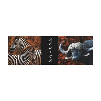 safari animals Africa buffalo zebra Canvas Print