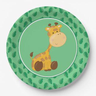 Safari Animals | Baby Giraffe 9 Inch Paper Plate