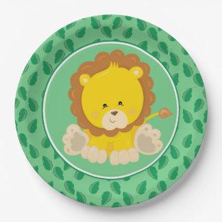 Safari Animals | Baby Lion Paper Plate