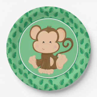 Safari Animals | Baby Monkey Paper Plate