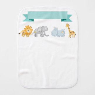 Safari Animals Banner Burp Cloth
