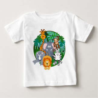 Safari Animals Cartoon Baby T-Shirt