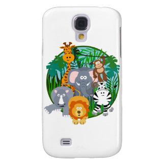 Safari Animals Cartoon Samsung Galaxy S4 Cover