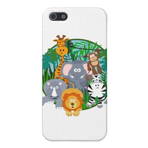 Safari Animals Cartoon Cases For iPhone 5