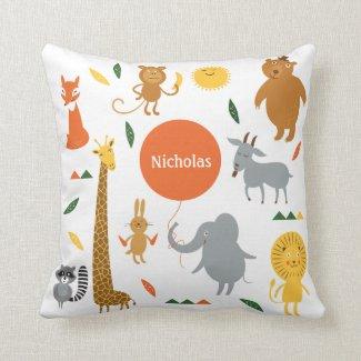 Safari Animals Pillow