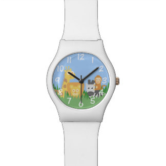 Safari Animals Theme for Children Timepiece Wristwatch