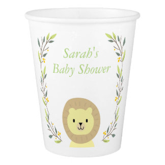 Safari Baby Shower Paper Cups