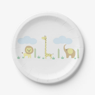 Safari Baby Shower Plates 7 Inch Paper Plate