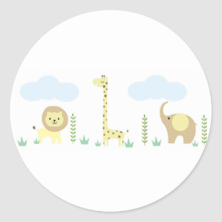 Safari Baby Shower Stickers