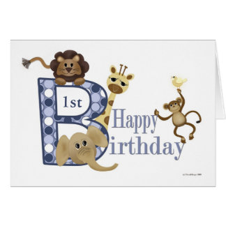 Safari Birthday in Blue Template