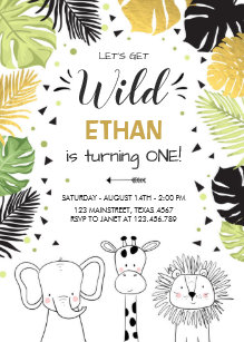 Zoo birthday invitations zazzle safari birthday invitation zoo wild jungle animals stopboris Image collections